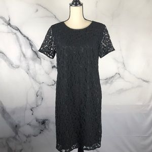 Ann Taylor dress with lace overlay